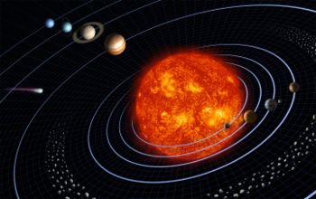 Gravitation between planets and stars